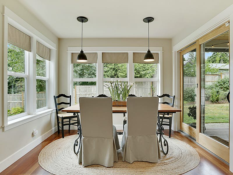 Informal dining area adjacent to kitchen and great room.