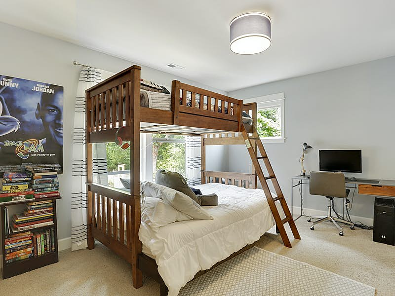 One of two Jack and Jill bedrooms.