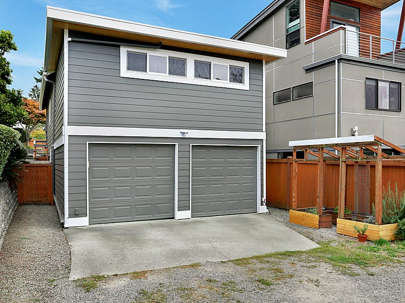 Rare 2 Car attached Garage with Alley access!