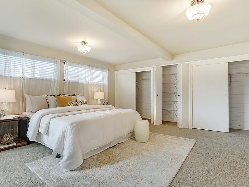 Spacious Master Suite with lots of closet space